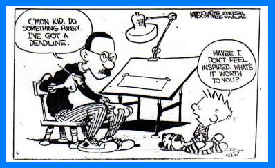 Bill Watterson urging calvin to be calvin