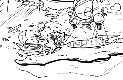 Cartoon Sea Monster