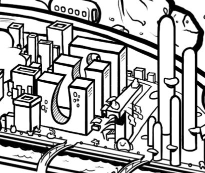 Cityscape cartoon
