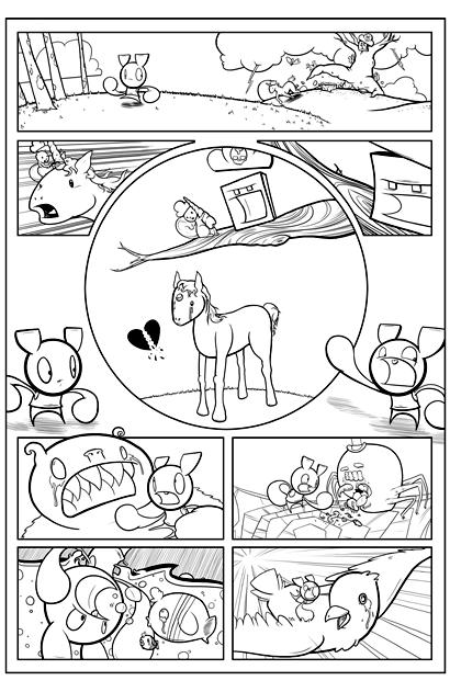 Inked Pixelon page funny unicorn