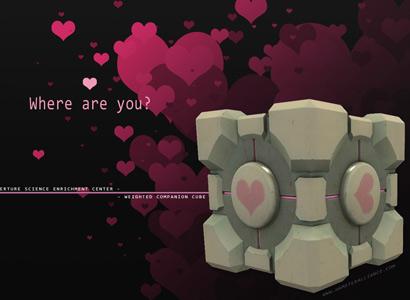 portal companion cube comic