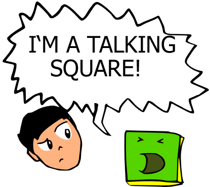 I'm a talking square by Harlequin