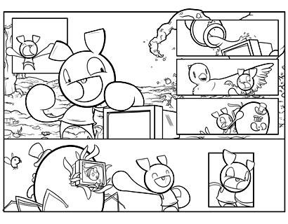 Pixelton 8bit hero Kirby Inked comic